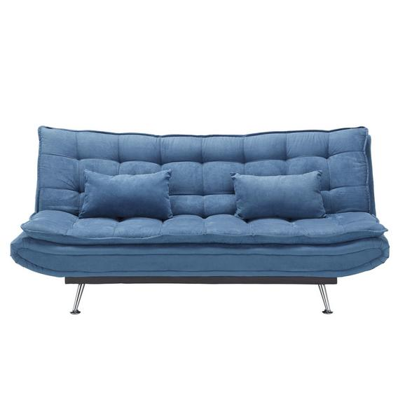 Trosjed Cloud - tamno plava/boje srebra, drvo/metal (196/92/98cm) - Mömax modern living