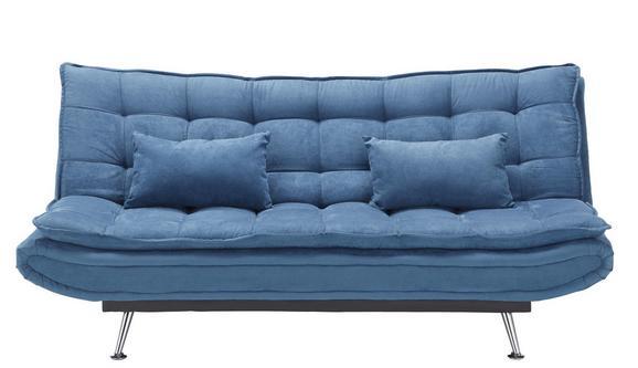 Trosjed Na Razvlačenje In Blau Mit Bettfunktion - tamno plava/boje srebra, drvo/metal (196/92/98cm) - Mömax modern living