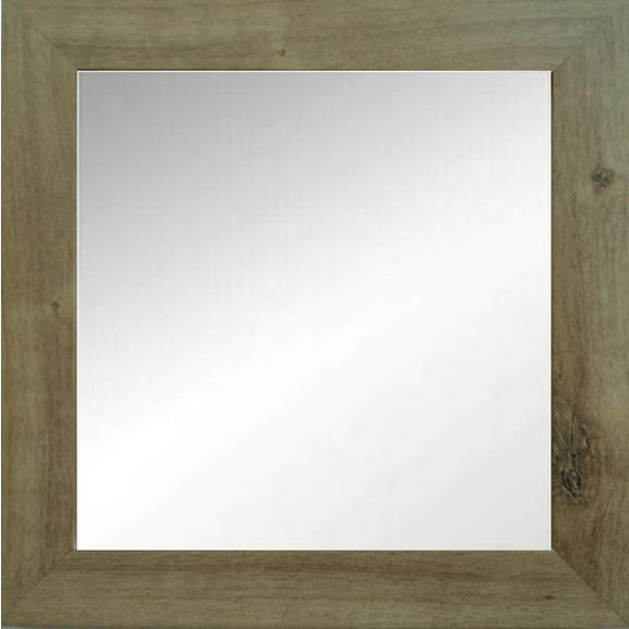 Wandspiegel Tina ca. 51x51x3,5cm - Eichefarben, MODERN, Glas/Holzwerkstoff (51/51/3,5cm) - Modern Living