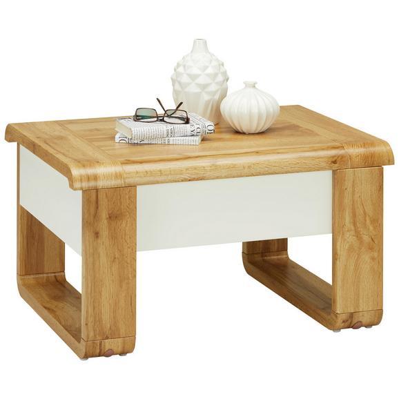 Couchtisch in Weiß/Eichefarben - Eichefarben/Weiß, MODERN, Holzwerkstoff/Metall (80/45-71/60cm) - Modern Living