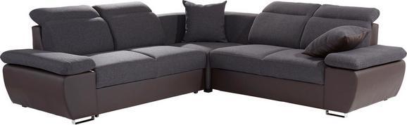 Sedežna Garnitura Logan - temno siva/srebrna, Konvencionalno, kovina/tekstil (270/270cm) - Premium Living