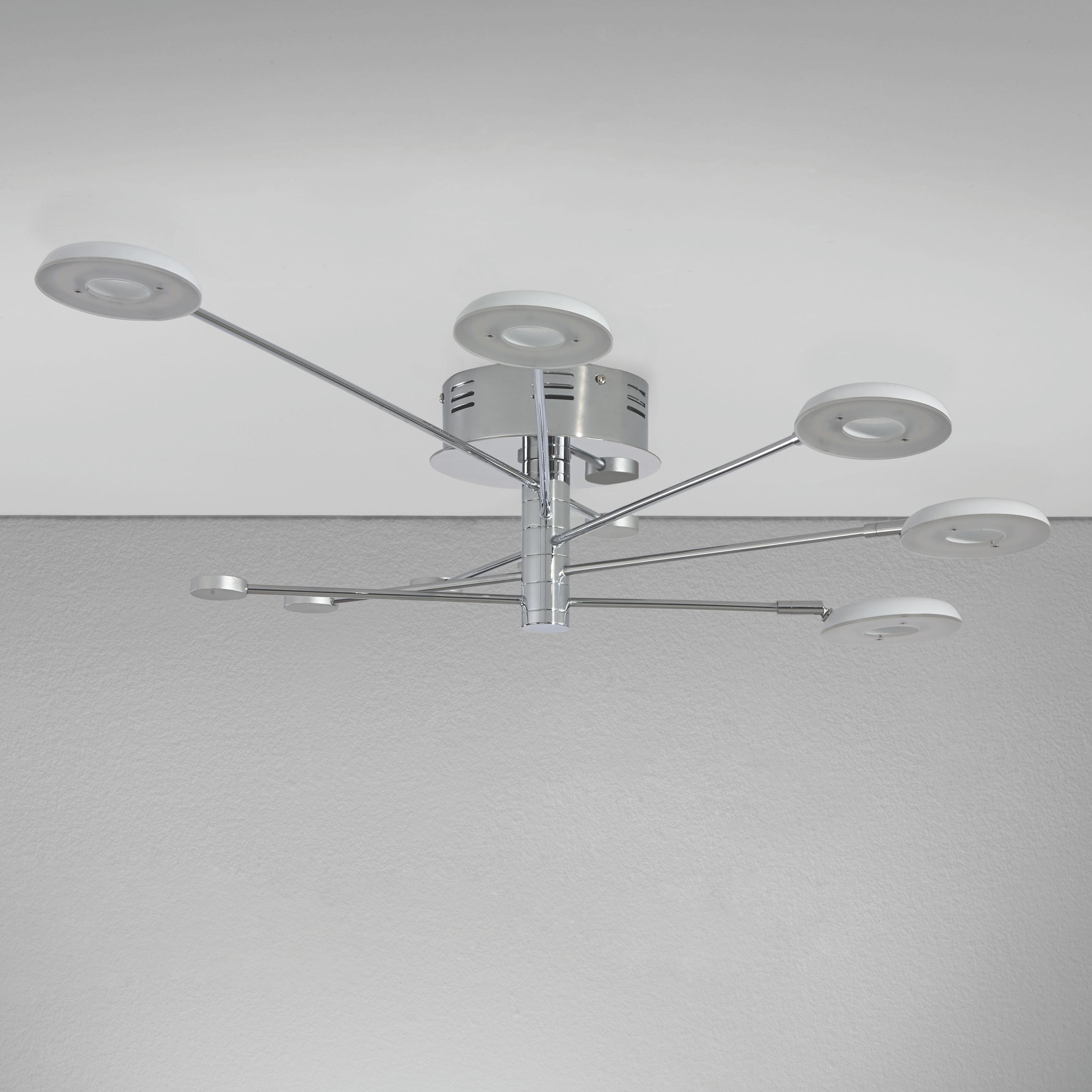 Fesselnd Superior Deckenleuchte Schlafzimmer Weis 2 #13: LED Deckenleuchte Luxury    Chromfarben/Silberfarben