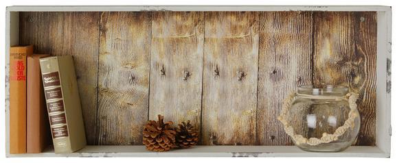 Wandregal Weiß - Weiß, MODERN, Holzwerkstoff (76/30/12cm)
