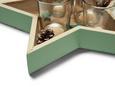 Teelichtschale Elen Grün - Dunkelgrün, Glas/Holzwerkstoff (27,5/26,5cm) - Mömax modern living