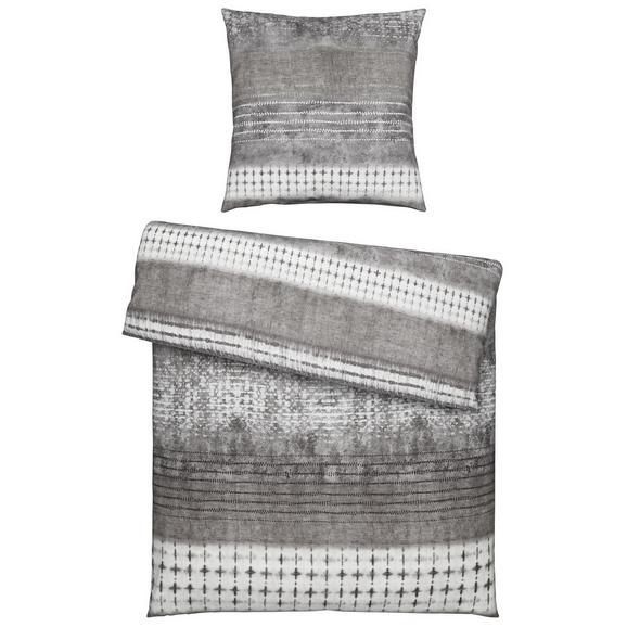 Bettwäsche Laris in Grau ca. 135x200cm - Textil (135/200/1cm) - Premium Living
