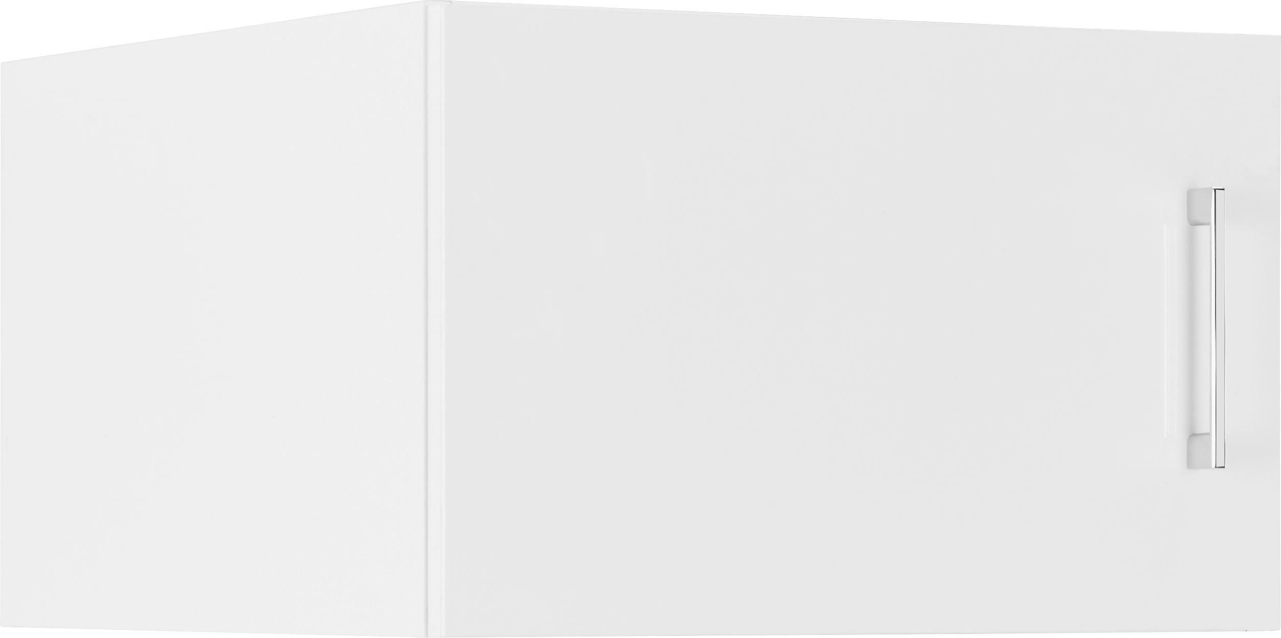 Aufsatzschrank in Weiß 1-türig - Weiß, MODERN, Holz (50/32/57cm) - PREMIUM LIVING