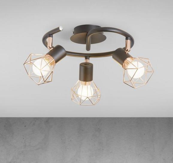 Deckenleuchte Jessy 3-flammig - Schwarz/Kupferfarben, MODERN, Metall (43/15cm) - Modern Living