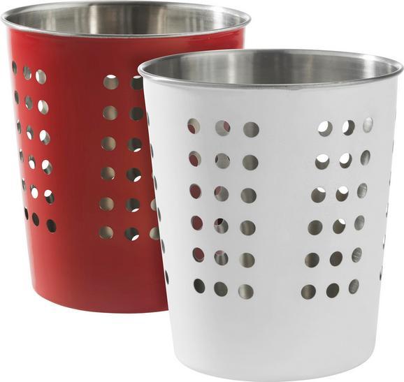 Küchenutensilienhalter Conny - Edelstahlfarben, Metall (12,5/14,3cm) - MÖMAX modern living