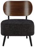Sessel Jonas - Schwarz, MODERN, Holzwerkstoff/Textil (58/72/64cm) - Modern Living