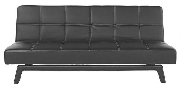 Schlafsofa in Schwarz mit Bettfunktion - Schwarz/Weiß, LIFESTYLE, Holz/Kunststoff (180/79/92cm) - Mömax modern living