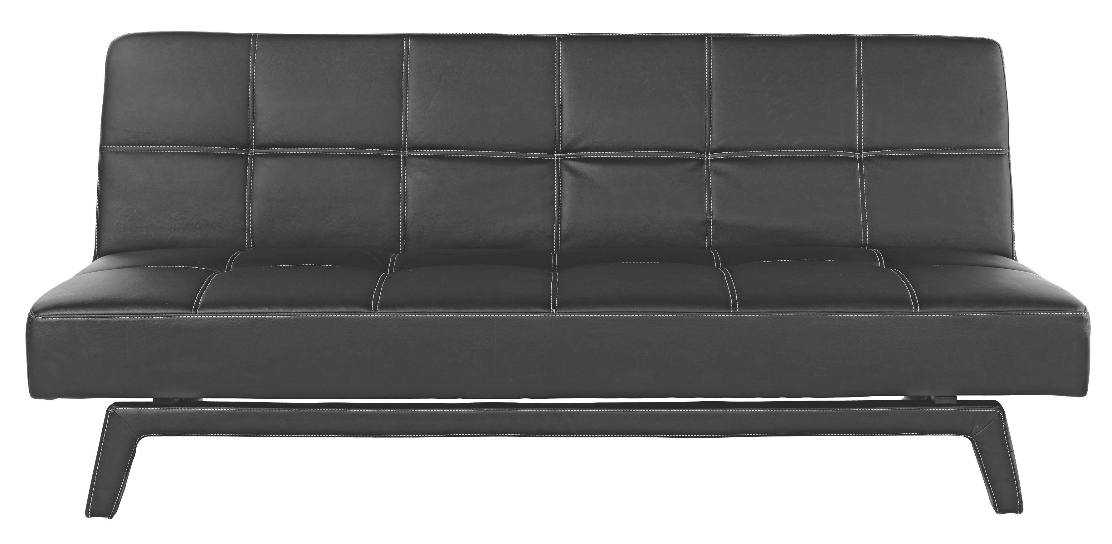 Sofa In Schwarz   Schwarz/Weiß, LIFESTYLE, Holz/Kunststoff (180/