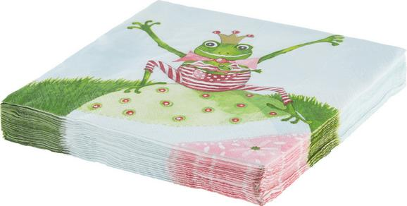 Serviette Patty aus Papier in Grün - Hellblau/Grün, Papier (16,5/16,5cm) - Mömax modern living