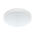 LED-Deckenleuchte max. 24 Watt 'Competa 1' - Weiß/Nickelfarben, MODERN, Kunststoff/Metall (43/5,5cm)