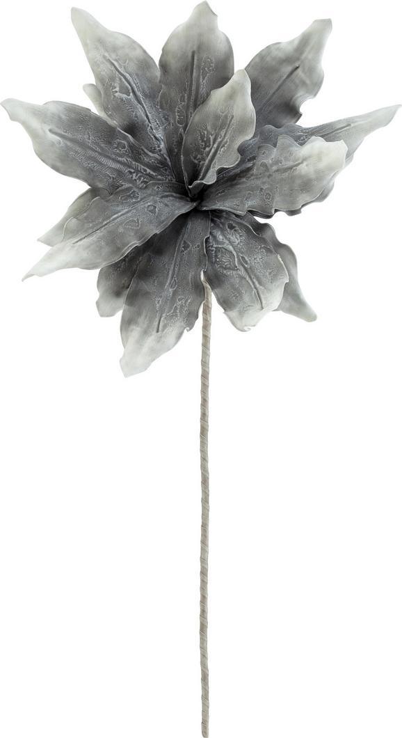 Dekozweig Helga in Grau - Braun/Grau, Kunststoff (100cm)