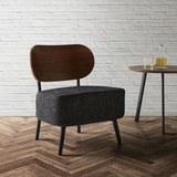 Sessel in Dunkelgrau 'Jonas' - Dunkelgrau, MODERN, Holzwerkstoff/Textil (58/72/64cm) - Bessagi Home