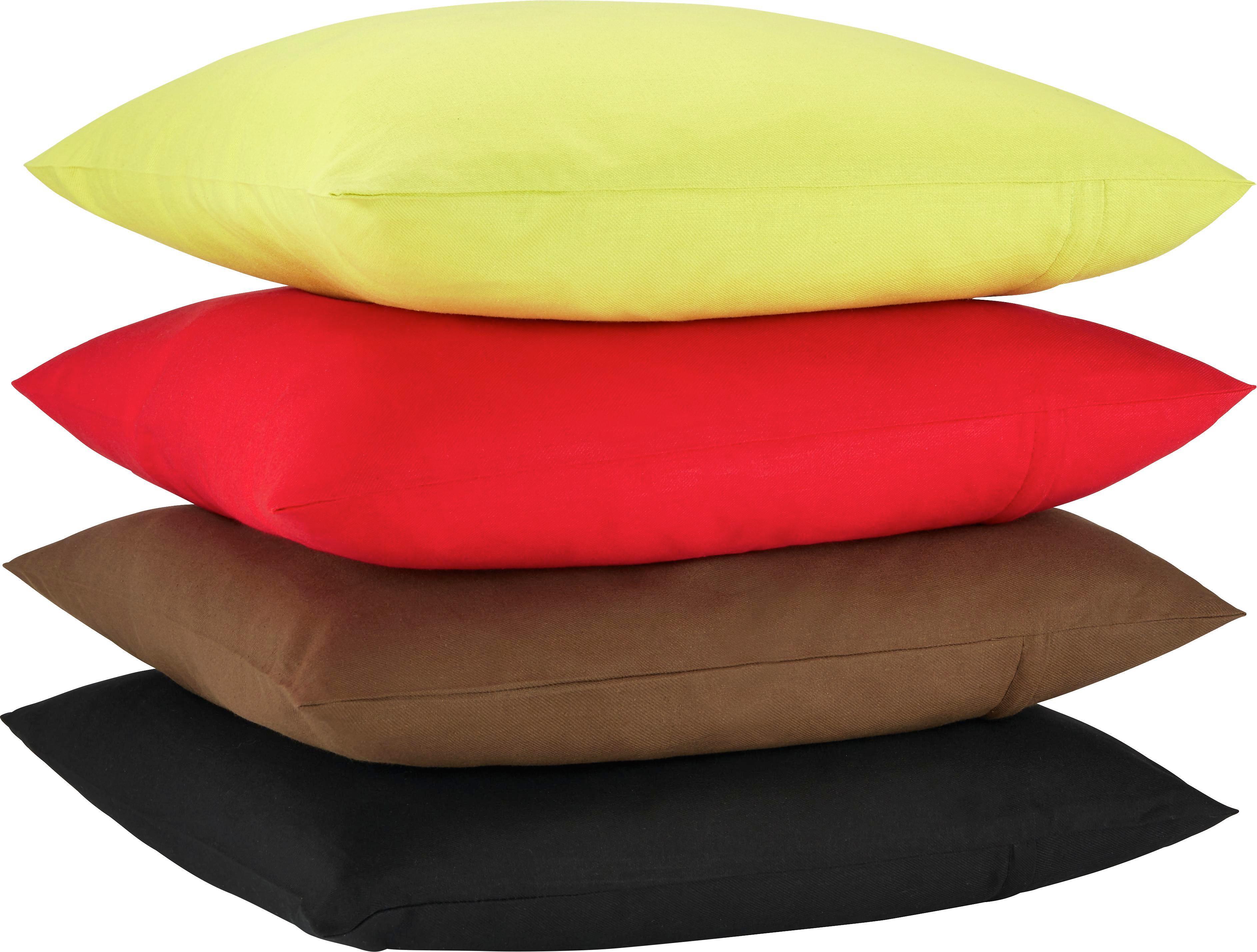 Zierkissen Zippmex in Rot, ca. 50x50cm - Rot, Textil (50/50cm) - BASED