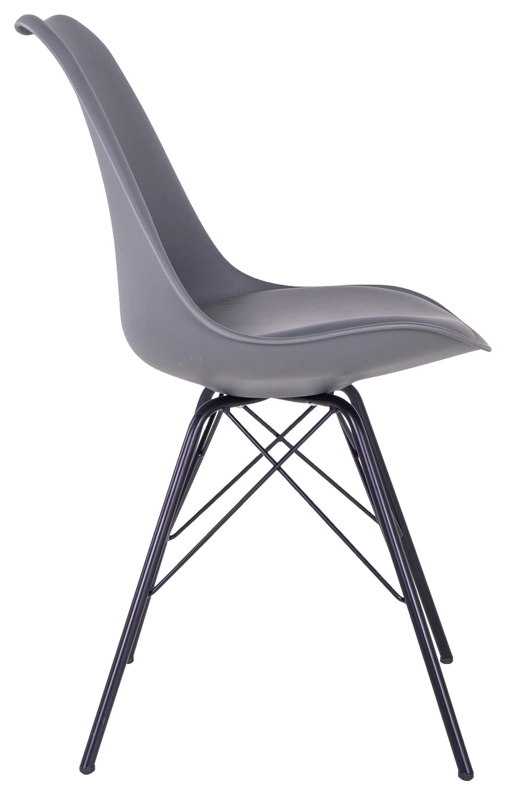 Modern Esszimmerstuhl weiß stuhl Chrom Beine Kunststoff ABS armlehnen 15Euro