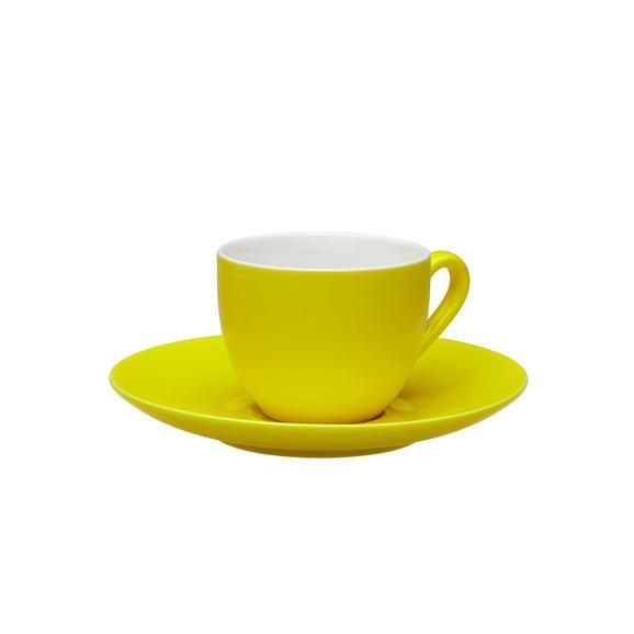 Espressotasse mit Untertasse Sandy in Gelb aus Keramik - Gelb, KONVENTIONELL, Keramik (6,4/5cm) - Mömax modern living