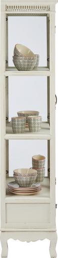Vitrine Joelle - Weiß, Glas/Holz (65/162/35cm) - MÖMAX modern living