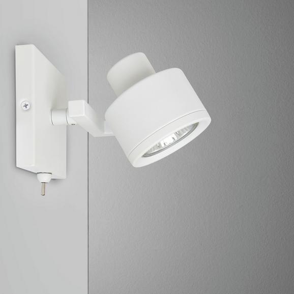 Strahler Sam - Weiß, MODERN, Metall (9/9/13,5cm) - Mömax modern living