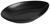 Servierplatte Nele aus Steinzeug in Schwarz - Schwarz, MODERN, Keramik (25,3/16/3,8cm) - Premium Living