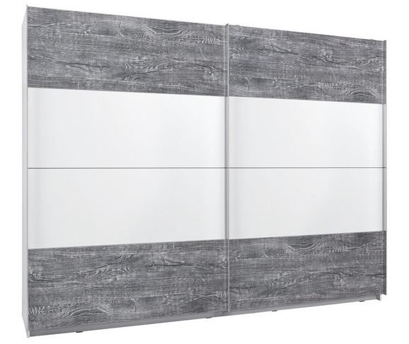 Omara Z Drsnimi Vrati Lissabon - siva/bela, Konvencionalno, kovina/umetna masa (270/210/62cm) - Modern Living