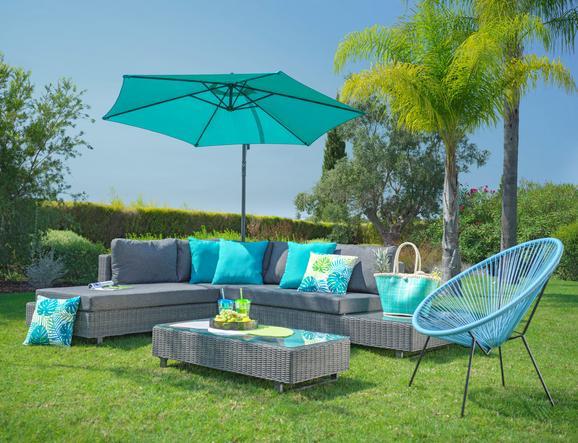 Lounge Garnitura Riccione - siva, Moderno, kovina/umetna masa - MÖMAX modern living