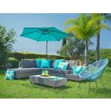 Lounge Garnitúra Riccione - szürke, modern, műanyag/üveg - MÖMAX modern living