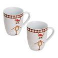 Kaffeebecherset aus Porzellan 2-teilig ''Maddy'' - Multicolor, KONVENTIONELL, Keramik (8,4/10,4cm) - Bessagi Home