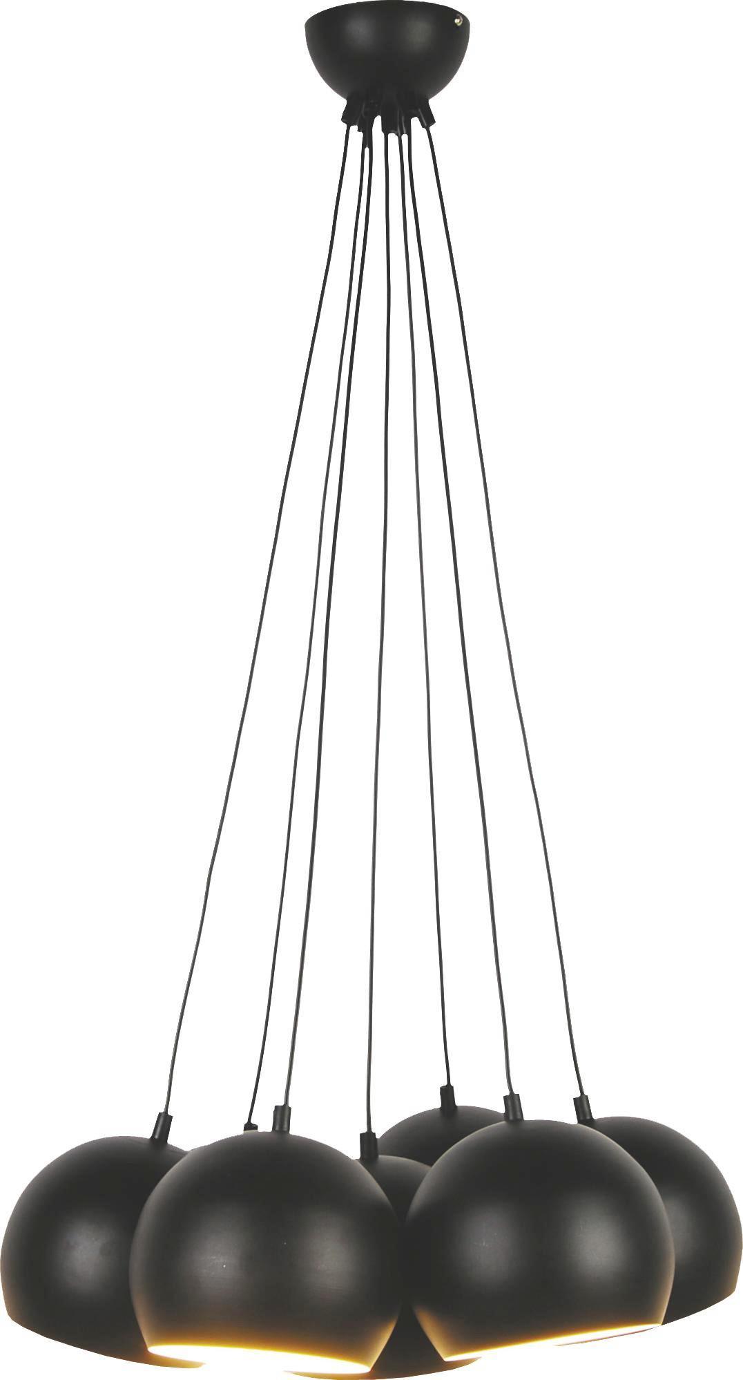 Hängeleuchte Elvis, max. 40 Watt - Schwarz, LIFESTYLE, Metall (45/45/113cm) - MÖMAX modern living