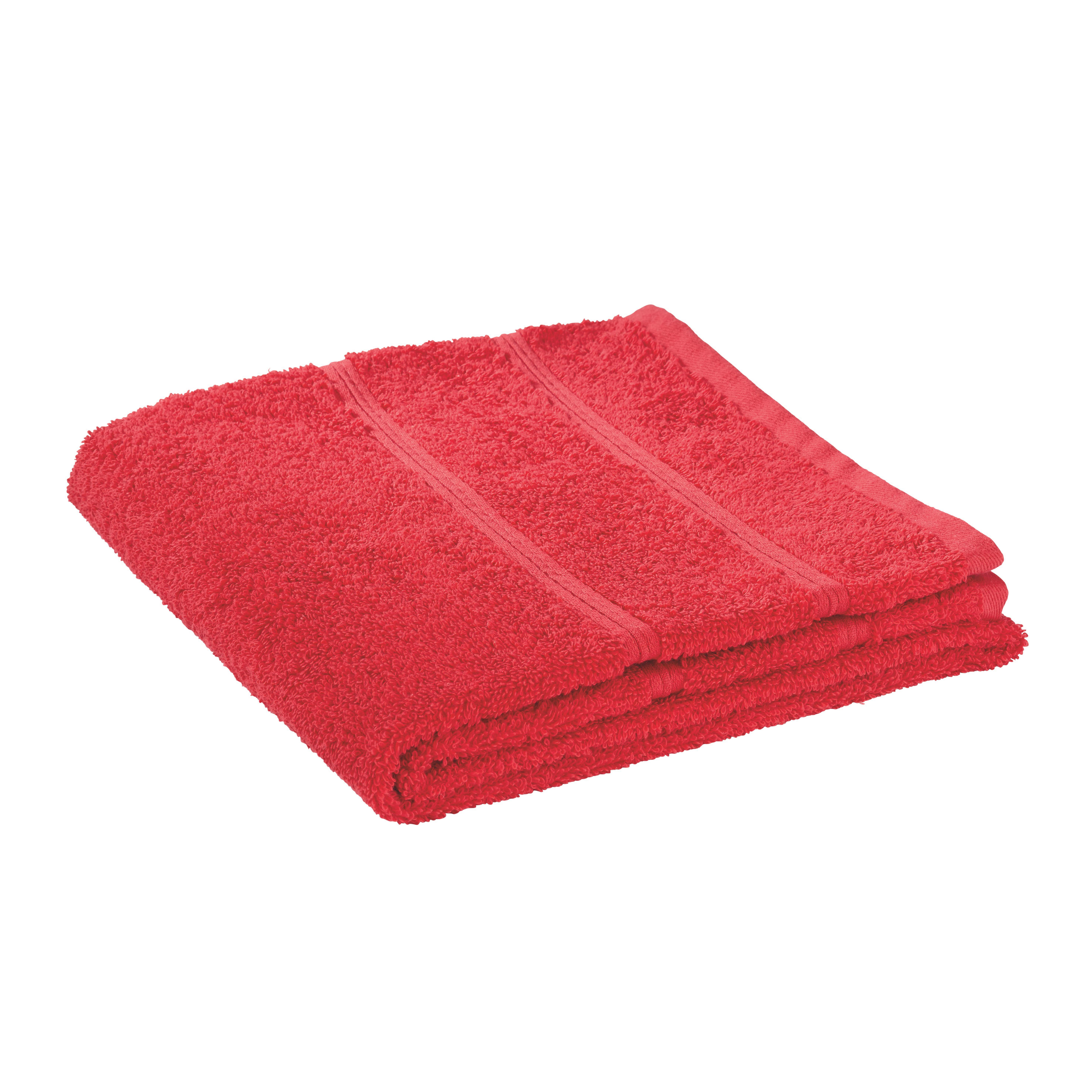 Törölköző Melanie - piros, textil (50/100cm)