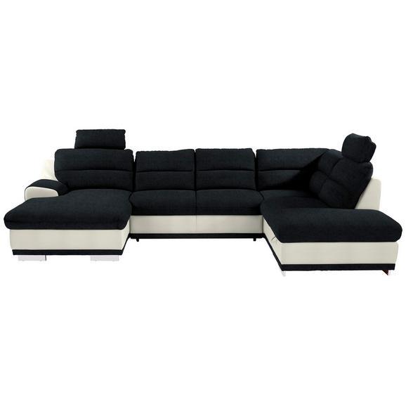 Sedežna Garnitura Seaside - črna/bela, Konvencionalno, kovina/tekstil (165/334/218cm) - Premium Living