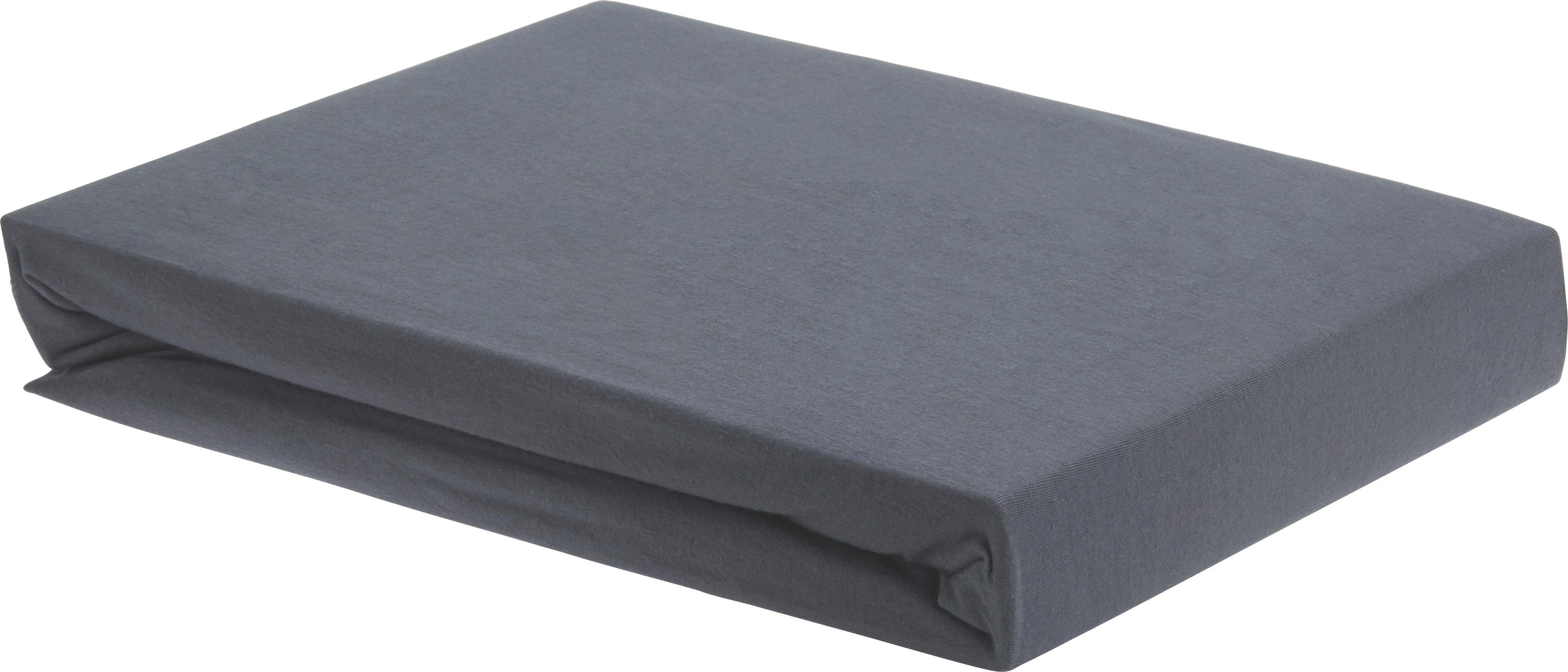 Spannbetttuch Elasthan ca. 100x200cm - Anthrazit, Textil (100/200cm) - PREMIUM LIVING
