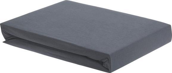 Spannleintuch Elasthan Topper ca. 180x200cm - Anthrazit, Textil (180/200/15cm) - Premium Living