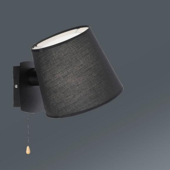 Wandleuchte Miriam max. 60 Watt - Schwarz, Textil/Metall (23/20/26cm)