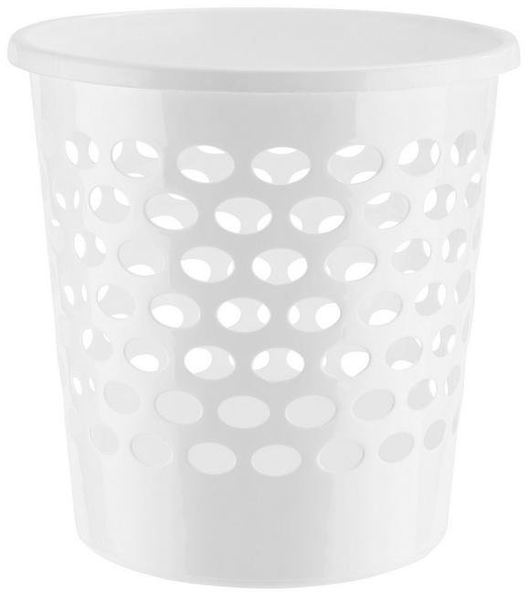 Papierkorb Korbinian in Weiß - Weiß, Kunststoff (25/26cm) - MÖMAX modern living