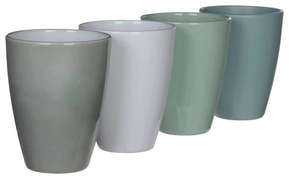 Orchideenübertopf Tusca - meta zelena/bela, keramika (13,5/17cm)