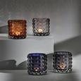 Teelichthalter Jolina Ø ca. 9,8 cm - Hellgrau, MODERN, Glas (9,8/9,8cm) - Mömax modern living