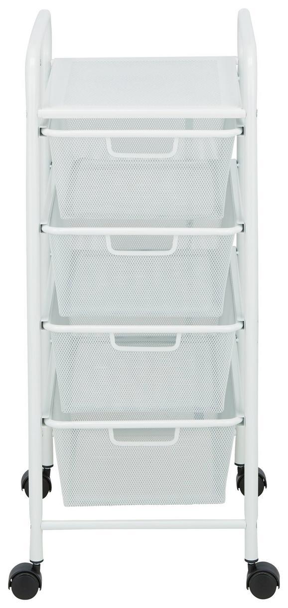 Rollcontainer Weiß - Schwarz/Weiß, MODERN, Kunststoff/Metall (33/79/39cm) - Mömax modern living