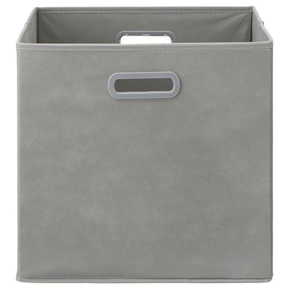 Faltbox Elli in Grau ca. 33x33x32cm - Grau, MODERN, Karton/Textil (33/33/32cm) - Modern Living