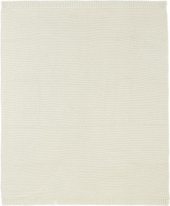 Kuscheldecke Romance Strick Creme - Creme, ROMANTIK / LANDHAUS, Textil (127/152cm) - Mömax modern living