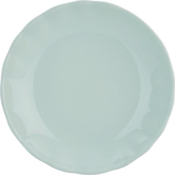 Suppenteller Pauline aus Keramik Ø ca. 20cm - Mintgrün, ROMANTIK / LANDHAUS, Keramik (25cm) - Zandiara