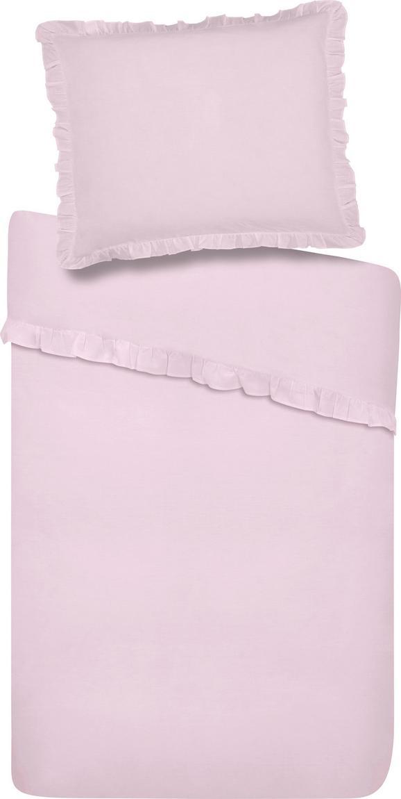 Bettwäsche Rüschen Rosa 140x200cm - Rosa, ROMANTIK / LANDHAUS, Textil - Zandiara
