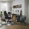 Kotna Pisalna Miza Core - hrast/antracit, Trendi, leseni material (140/74/120cm) - Premium Living