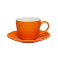 Kaffeetasse mit Untertasse Sandy aus Keramik ca. 250ml - Orange, KONVENTIONELL, Keramik (5/6,9cm) - Mömax modern living