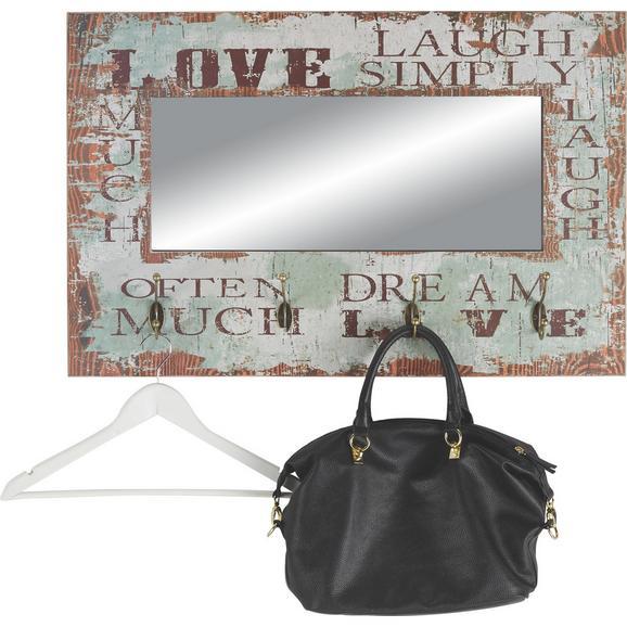 Stensko Ogledalo Simply 4 - večbarvno, kovina/les (80/52/10cm)