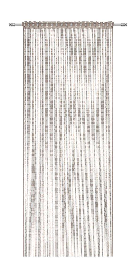Fadenstore Tom in Stein, ca. 95x240cm - Grau, ROMANTIK / LANDHAUS, Textil (95/240cm) - MÖMAX modern living