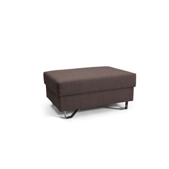 Tabure Mohito - krom/rjava, Moderno, kovina/tekstil (64/43/92cm) - Premium Living