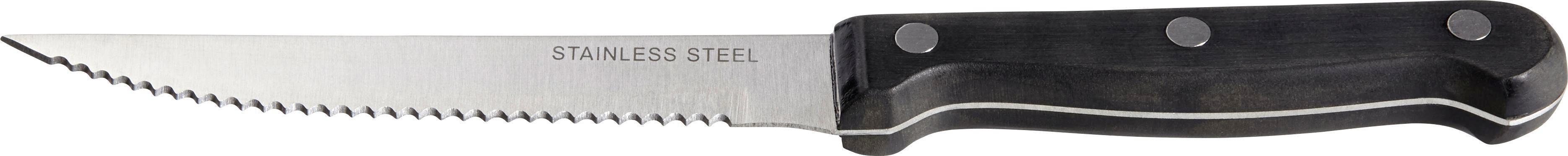 Steakmesserset Linda in Silber/schwarz - Silberfarben/Schwarz, KONVENTIONELL, Kunststoff/Metall (21cm) - MÖMAX modern living