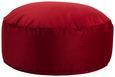 Pouf Rot - Rot, LIFESTYLE, Textil (80/30cm) - Modern Living